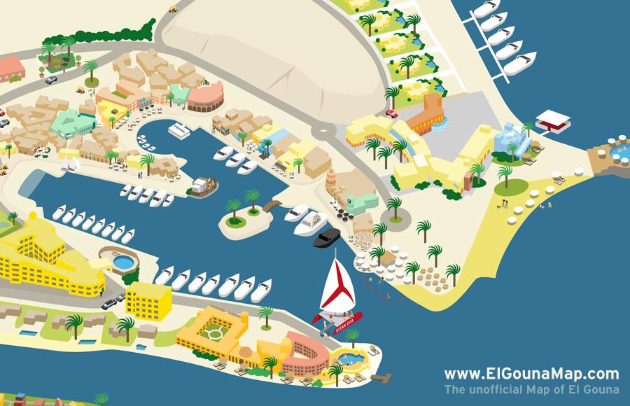 El Gouna Venedig Des Roten Meeres - Map of egypt el gouna