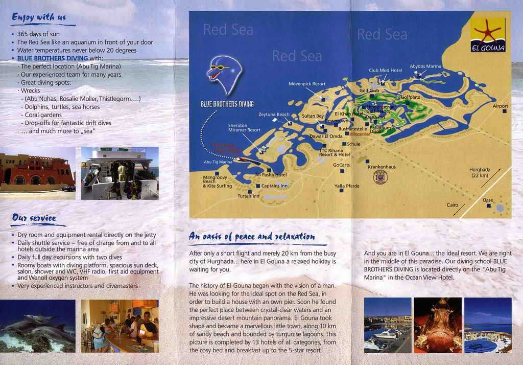 Blue Brothers Diving Englisch Flyer 2